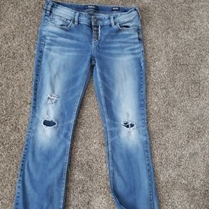 Womens size 32/33 silver jeans
